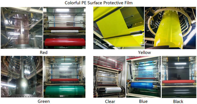 50um Multi Color PE Self Adhesive Protective Film For Metal , Plastic And Glass Surface Protection