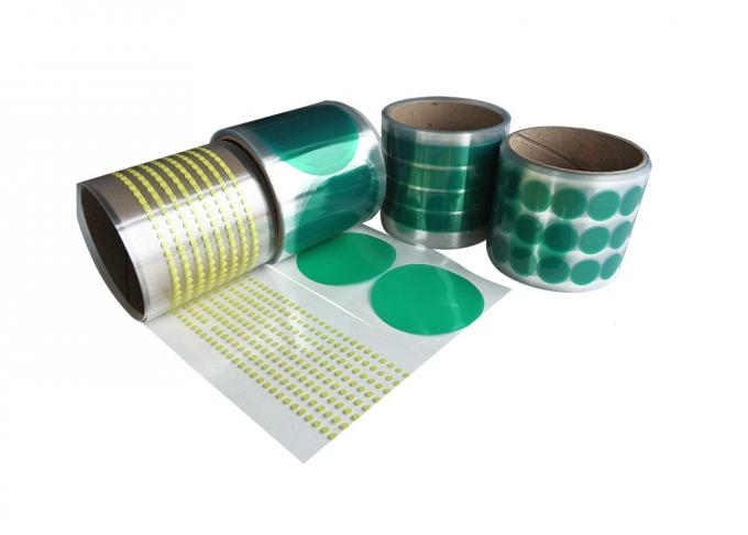 Polyester High Temperature Tape Green Masking tape for powder painting