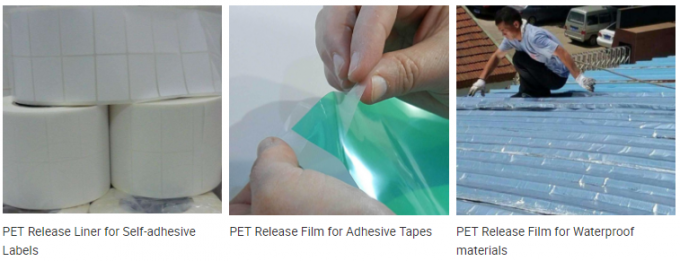 Transparent PET Organic Silicone Release Film For Self Adhesive Stickers
