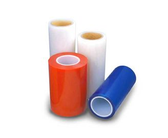 China 50um Multi Color PE Self Adhesive Protective Film For Metal , Plastic And Glass Surface Protection supplier