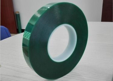 China Polyester High Temperature Tape Green Masking tape for powder painting supplier
