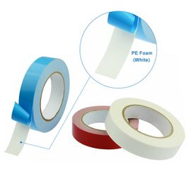 China Double Sided PE Foam Adhesive Tape Waterproof White Polyethylene (PE) Sponge Tape supplier