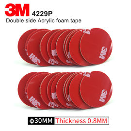 Double Sided Adhesive Acrylic Foam 3M 4229P Kiss Cut Tape 75MM Circle Gray 3M Automotive Car Tape