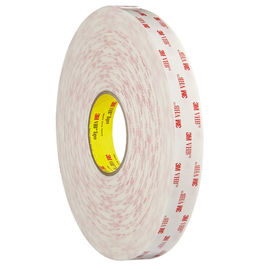 China Acrylic Foam Kiss Cut Tape Double Sided Foam Tape1.1mm Thickness 3M VHB 4945 White Color supplier