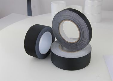 China Glue Electrical Insulation Tape , Acetate Cloth Tape Custom Black Coarse Texture Cloth Acrylic factory