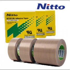 Nitto 973UL High Temperature PTFE PTFE Fiberglass Tape with Silicone Adhesive